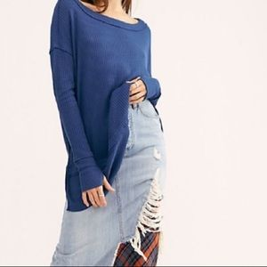Free people north shore thermal long sleeve top